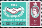 British Virgin Islands 1965  International Co-operation Year SG 195 Fine Mint