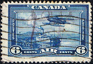 Stamps Canada 1937 SG 371 Air Flying Boat Ferry Fine Used