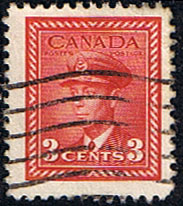 Canada 1942 SG 377 King George in Air Force Uniform Fine Used