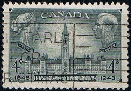 Canada 1948 SG 411 Victoria George VI and Parliment Building Fine Used