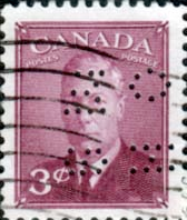 Canada 1949 SG O161 Official Overprint O.H.M.S Perforated Fine Used