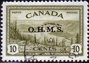 Canada Stamps 1949 SG O166 Official Overprint O H M S