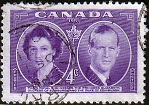 Stamps of Canada 1951 Royal Visit Fine Used