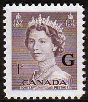 Canada Stamps 1953 SG O196 Official Overprint G Fine Mint Scott O33