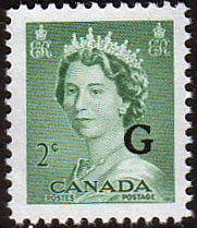 Canada Stamps 1953 SG O197 Official Overprint G Fine Mint