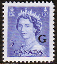 Canada Stamp 1953 SG O200 Official Overprint G