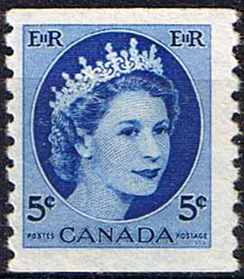 Canada 1954 Sg 471 Queen Elizabeth Head Coil Stamps Fine Mint