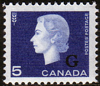 "Canada 1963 SG O211 Official Overprint ""G"" Fine Mint"