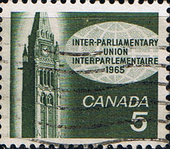 Canada 1965 Inter-Parliamentary Union Conference Fine Used SG 566 Scott 441
