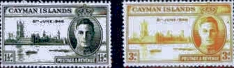 Cayman Islands Stamps 1946 King George VI Victory