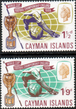 Cayman Islands Stamps 1966 Football World Cup Set Fine Mint