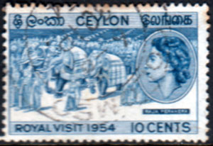 Ceylon 1954 Queen Elizabeth II Royal Visit Fine Used
