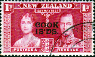 Cook Islands 1937 King George VI Coronation SG 124 Fine Used