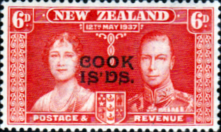 Cook Islands 1937 King George VI Coronation SG 126 Fine Mint