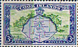 Stamps of Cook Island 1949 Aitutaki and Palm Trees SG 153 Fine Mint Scott 134