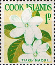 Stamps Stamp Cook Island 1963 Flowers SG 163 Fine Mint Scott Scott 148