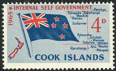 Stamps Cook Island 1963 Flowers SG 165 Fine Mint Scott 150