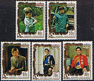 Cook Island 1982 Penrhyn Island Stamps ROYAL BABY 1st Issue Set Fine Mint
