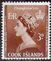 Cook Islands Queen Elizabeth II 1953 Coronation SG 160 Fine Mint