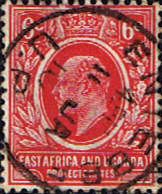 British East Africa and Uganda 1904 King Edward VII SG 36 Fine Used Scott 33