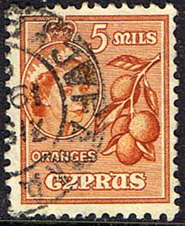 Stamps Cyprus 1955 New Currency SG 175 Fine Used Scott 170