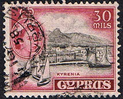 Stamps Cyprus 1955 New Currency SG 180 Fine Used Scott 175