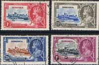 Dominica 1935 King George V Silver Jubilee Set Fine Used