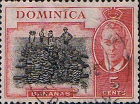 Stamps Stamp Dominica 1951 King George VI SG 125 Fine Used Scott 127