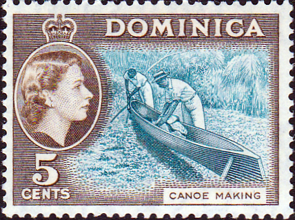 Stamp Stamps Dominica 1954 Queen Elizabeth II SG 147 Fine Used Scott 158