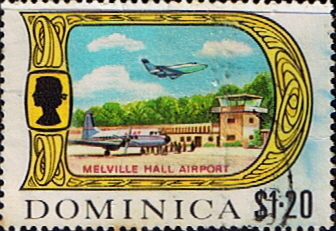 Stamp Stamps Dominica 1969 SG 288 Melville Hall Airport Fine Mint Scott 284