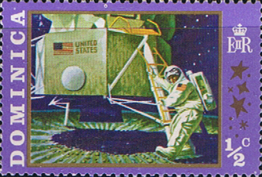 Stamp Stamps Dominica 1970 SG 296 Moon Landing Fine Mint Scott 291