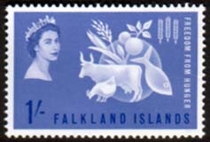Falkland Islands 1963 Freedom From Hunger Fine Mint