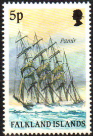 Falkland Islands 1989 Cape Horn Sailing Ships SG 571 Fine Mint