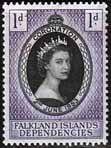 Falkland Islands Dependecies Queen Elizabeth II 1953 Coronation Fine Mint
