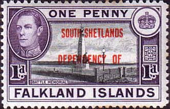 Falkland Islands Dependencies 1944 South Shetlands SG d2 Fine Mint