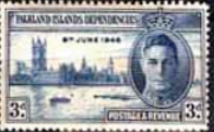 Falkland Islands Dependencies 1946 King George VI Victory SG 18 Fine Mint