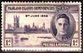 Falkland Islands Dependencies 1946 King George VI Victory SG G17 Fine Mint