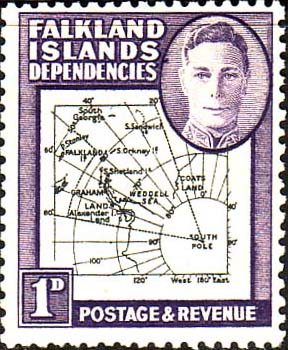Stamps Stamp Falkland Islands Dependencies 1946 Map SG G2 Fine Mint Scott 1L2