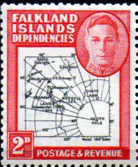Stamps Falkland Islands Dependencies 1946 Map SG G3 Fine Used Scott 1L3