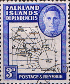Stampa Falkland Islands Dependencies 1946 Map SG G4 Fine Used Scott 1L4