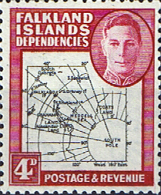 Stamps Stamp Falkland Islands Dependencies 1946 Map SG G5 Fine Mint Scott 1L5