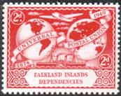 Falkland Islands Dependencies 1949 Universal Postal Union  SG G22 Fine Mint