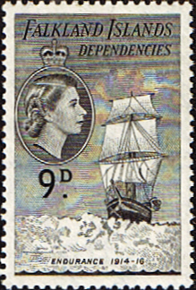 Stamps Falkland Islands Dependencies 1954 Ships SG G34 Fine Used SG Scott 1L27