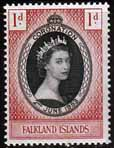 Falkland Islands Queen Elizabeth II 1953 Coronation Fine Mint