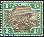 Federated Malay States 1900 SG 15a Tiger Fine Mint