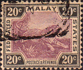 Federated Malay States 1900 SG 21 Tiger Fine Used