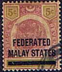 Federated Malay States 1900 SG  4 Overprint Fine Used