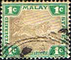 Federated Malay States 1904 SG 27a Tiger Fine Used