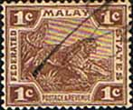 Federated Malay States 1904 SG 30 Tiger Fine Used
