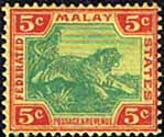Federated Malay States 1904 SG 39 Tiger Fine Mint